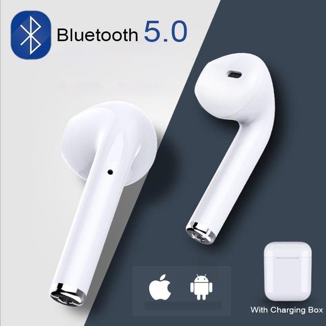 I7s СПЦ мини Беспроводной Bluetooth наушники стерео вкладыши гарнитура наушники микрофоном для Iphone Xiaomi всех смартфонов i10 i12