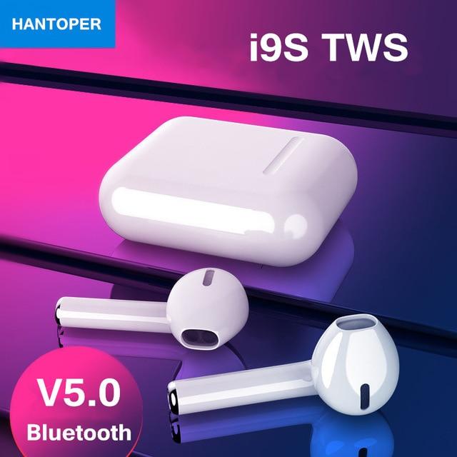 I9S СПЦ беспроводной Bluetooth 5,0 наушники бинауральные наушники с поддержкой звонков с зарядки Box стерео гарнитура для всех телефонов