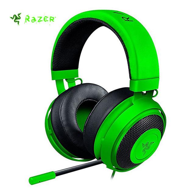 Razer Kraken Pro V2 гарнитура аналоговый Gaming Headset полностью Выдвижная гарнитура с микрофоном овальные амбушюры для ПК Xbox One и Playstation 4