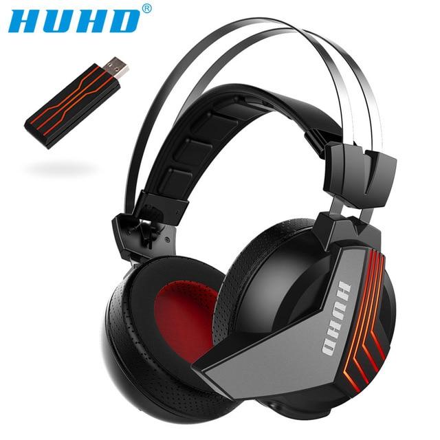 Высокотехнологичный Беспроводной 7,1 Surround Sound USB игровая стереогарнитура за ухо Шум изоляции светодиодный мониторные наушники для PS4 PC Gamer