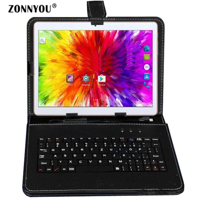 10,1 дюймов планшетный ПК Android 8,0 3g телефонный звонок Восьмиядерный 4 Гб ОЗУ 32 Гб ПЗУ встроенный 3g Bluetooth Wi-Fi gps Планшетный ПК + клавиатура