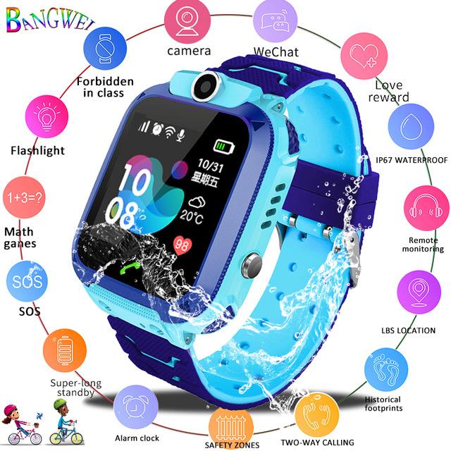 2019 новые умные часы LBS Детские умные часы детские часы для детей SOS Вызов локатор трекер анти-потеря монитор + коробка