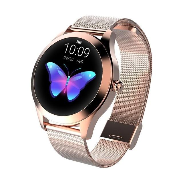 696 KW10 модные часы Smart Watch Для женщин очаровательный браслет монитор сердечного ритма Sleep Monitor Смарт-часы с мониторингом подключения IOS Android PK S3 группа