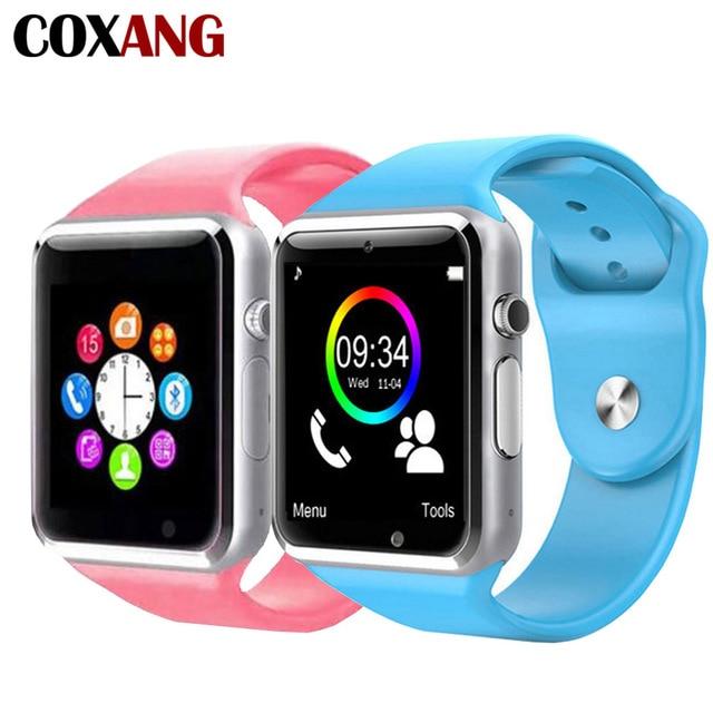 Coxang A1 Смарт-часы для Для детей маленьких 2G Sim карты Дейл можно звонить, часы-телефон Сенсорный экран Водонепроницаемый Смарт-часы