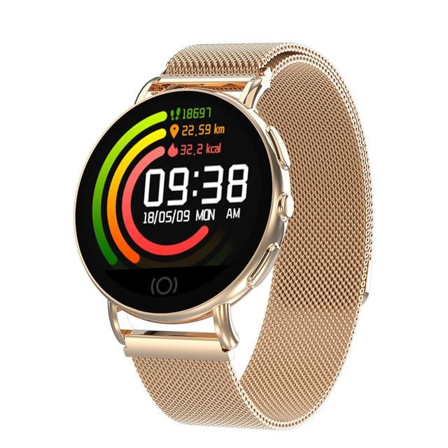HATOSTEPED Новые смарт-часы для мужчин и женщин монитор сердечного ритма кровяное давление фитнес-трекер Смарт-часы спортивные часы для ios android