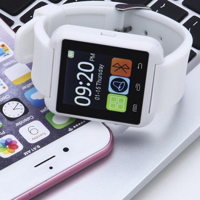 Портативный смарт-часы Bluetooth 3,0 Смарт-часы U8 браслет для ношения циферблат вызов фитнес-трекер музыка фото чат смартфон