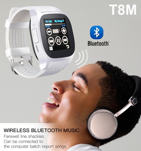 T8M унисекс Bluetooth Смарт часы с камерой сердечного ритма кровяное давление шагомер GSM SIM спортивные фитнес часы soport браслет