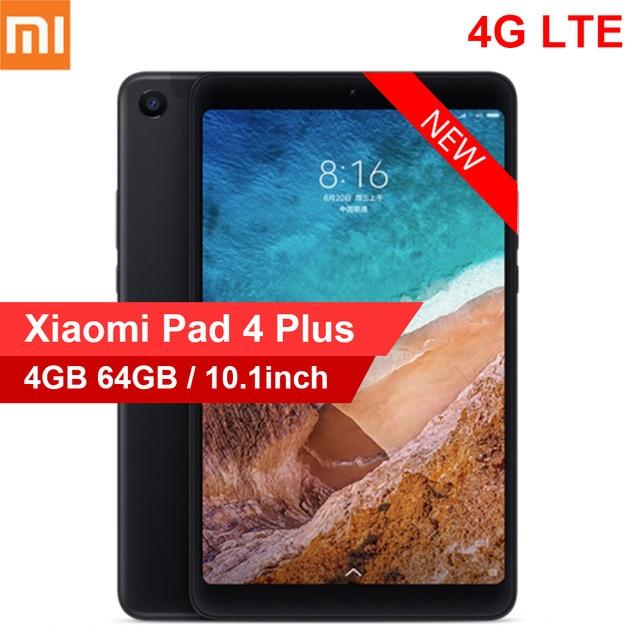 Xiaomi mi Pad 4 Plus г Phablet 10,1 дюймов mi UI 9,0 Qualcomm Snapdragon 660 Гб 64 распознавания лиц 5.0MP 13.0MP двойной камеры