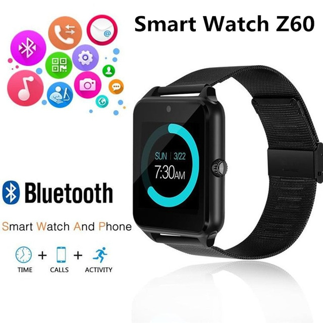 Z60 Смарт-часы GT08 Plus металлический корпус поддерживающий ремень Камера сим-карты памяти Bluetooth совместим с Android и IOS Телефон PK Q18 Y1 DZ09 V8 S8 V8