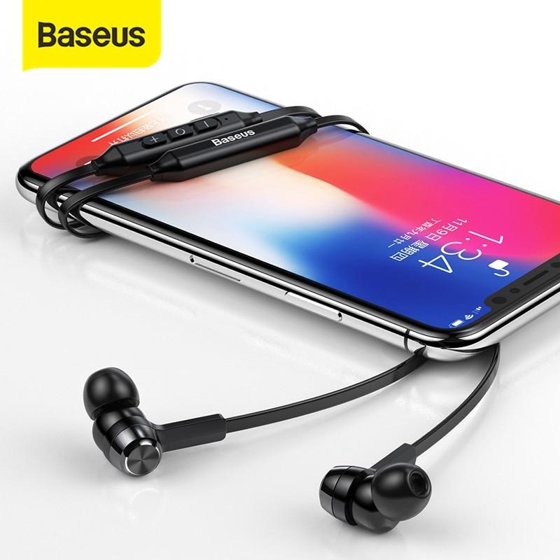 Baseus S06 bluetooth-наушники на шею беспроводные наушники для Xiaomi iPhone наушники стерео auriculares fone de ouvido с микрофоном