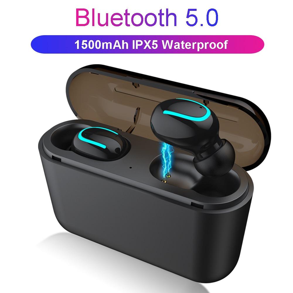Bluetooth 5,0 наушники TWS беспроводные наушники Blutooth наушники Handsfree наушники спортивные наушники игровая гарнитура телефон PK HBQ