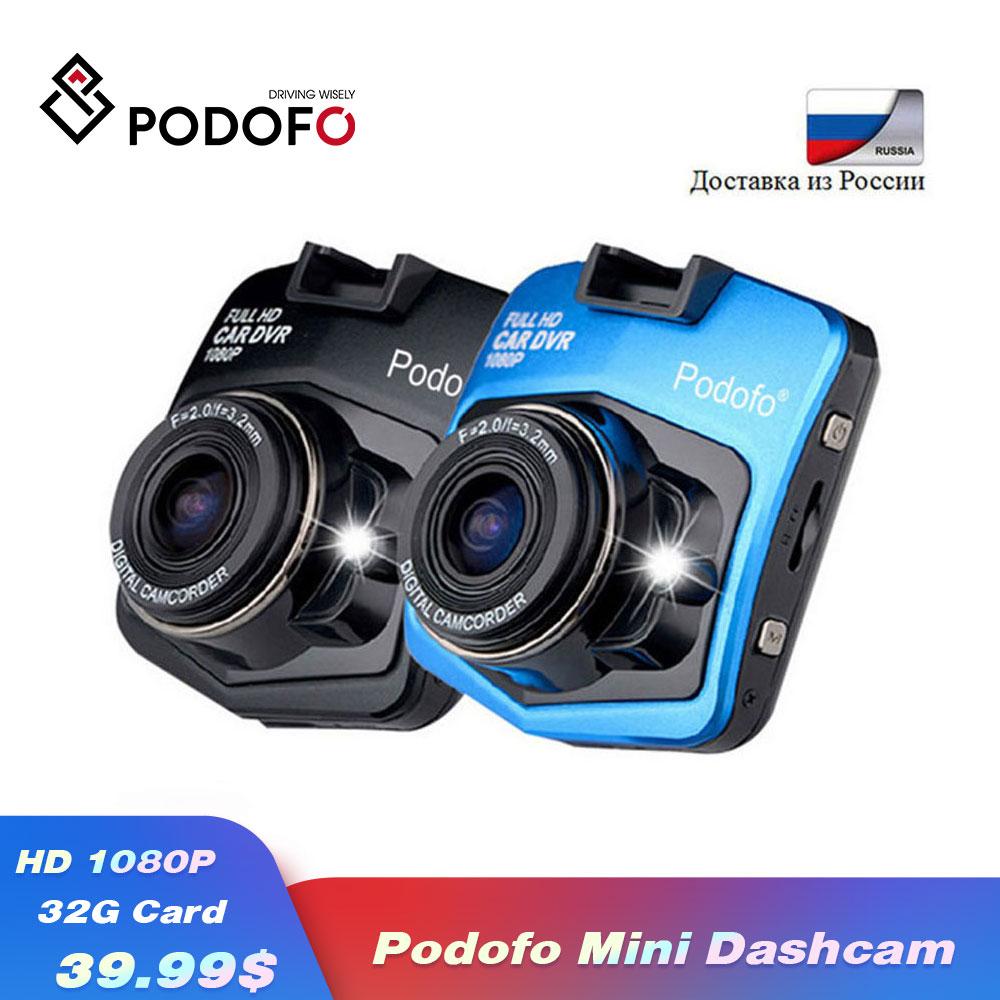 2019 новый оригинальный Podofo A1 Мини Автомобильный видеорегистратор камера видеорегистратор Full HD 1080 P рекордео для видеорегистратора g-сенсор ночного видения