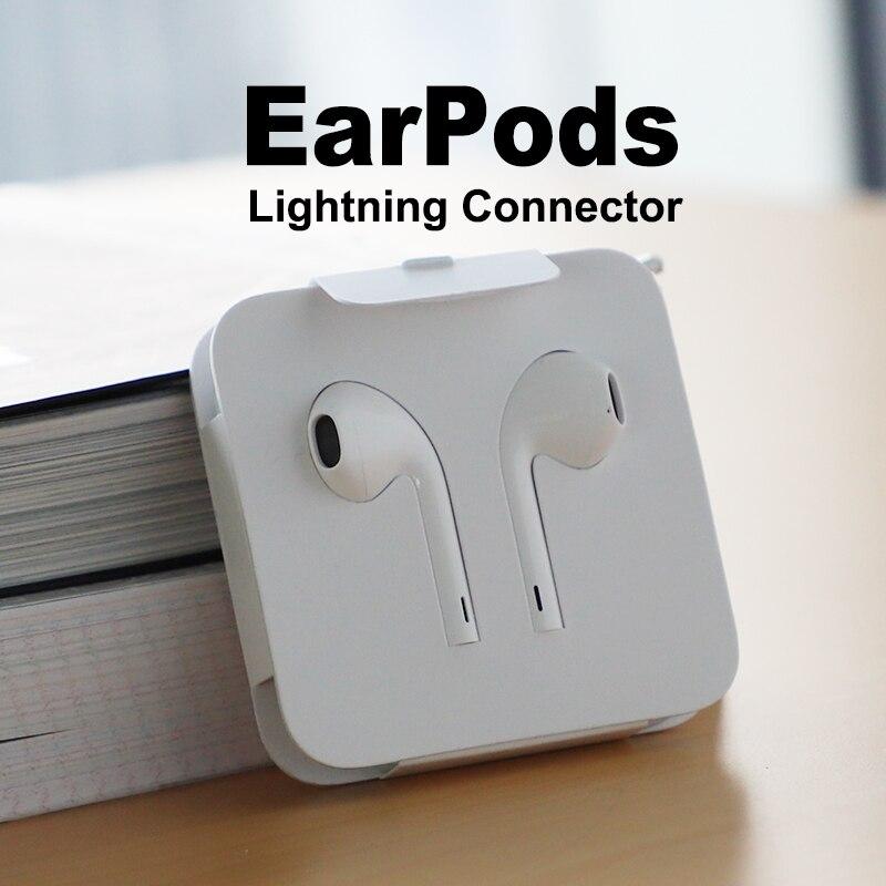 Apple EarPods с штепсельная вилка и микрофон. Оригинальные наушники для iPhone7   7s8   8p   X и iPad (простой пакет)