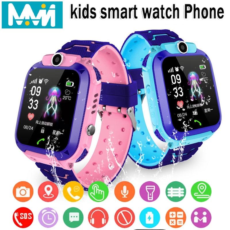 Детские Смарт-часы IPX7 водонепроницаемые Смарт-часы с сенсорным экраном SOS телефон звонок устройство расположение трекер Анти-потери Детские Смарт-часы