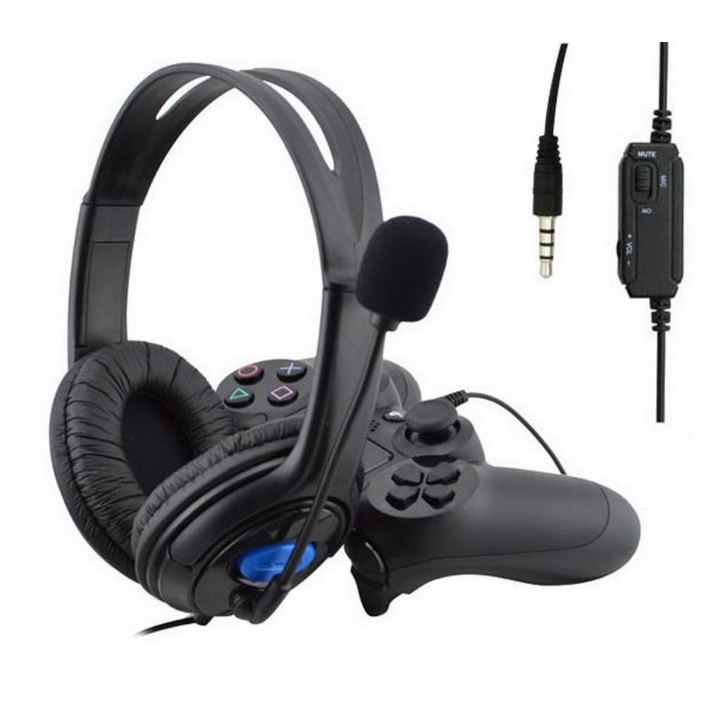 EDAL игровая гарнитура для PS4 проводные наушники с микрофоном 3,5 мм наушники с усиленными басами с микрофоном для PS4 sony playstation 4 PC