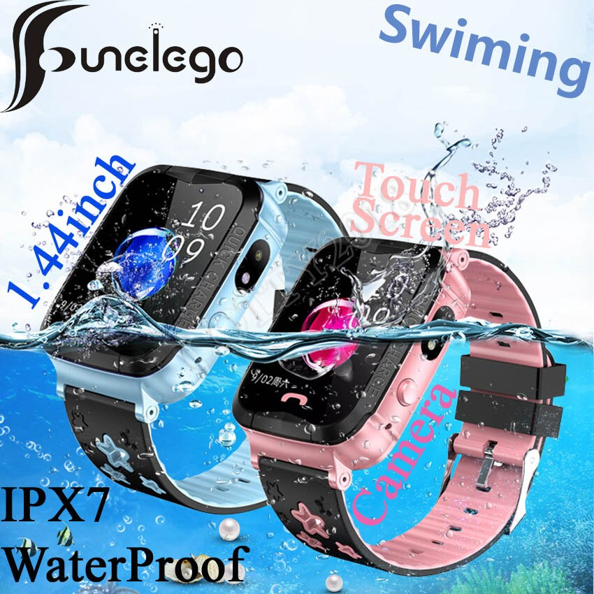 Funelego IP67 глубокий Водонепроницаемый детская gps Смарт-часы-телефон для детей водостойкие часы телефон детские плавательные SeTracker PK Y03
