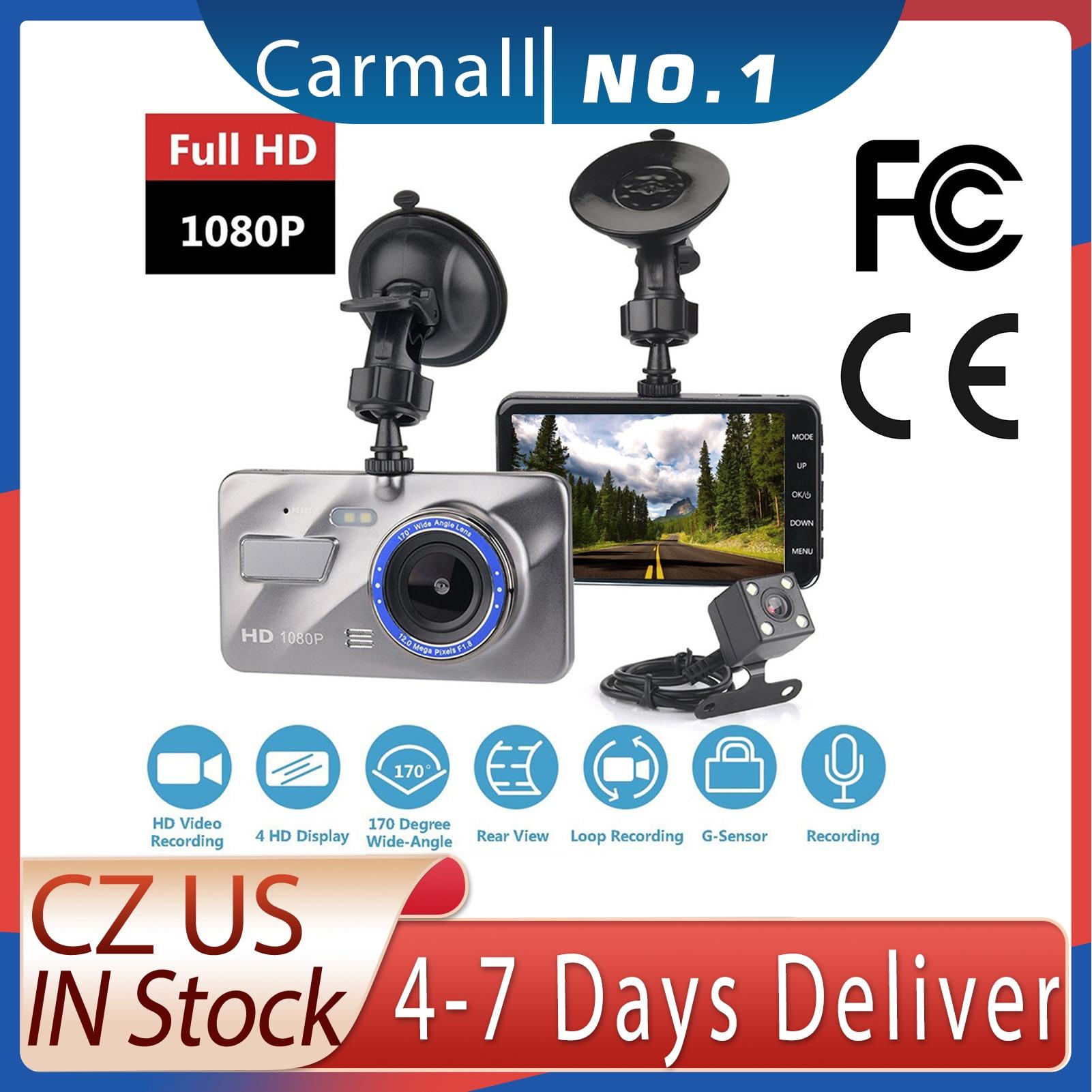 HD 4 дюйма с двойным объективом 1080 P Скрытая широкоугольная камера для вождения видеорегистратор с двумя объективами Автомобильный видеорегистратор камера с поддержкой заднего хода