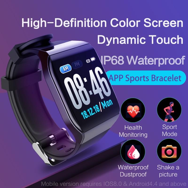 KSUN KS58 Смарт Браслет с монитор сердечного ритма ЭКГ крови Давление IP68 Фитнес трекер Wrisatband Смарт-часы