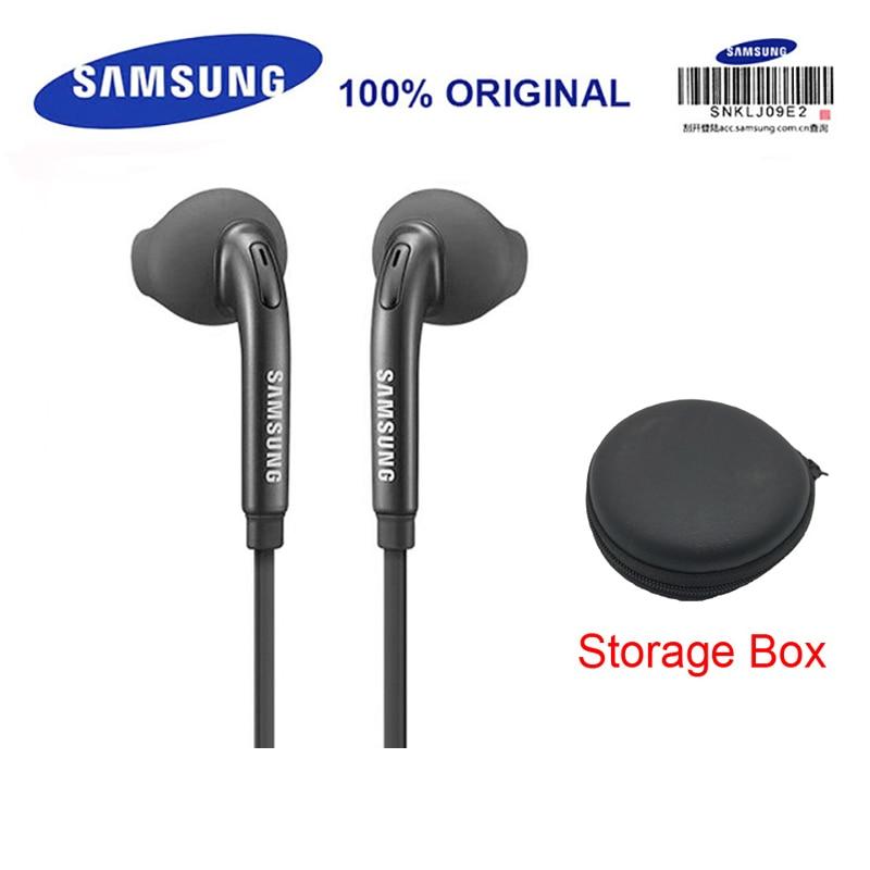 Наушников SAMSUNG EO-EG920 проводные наушники с черный ящик для хранения 3,5 мм наушники-вкладыши игровых гарнитур Поддержка Galaxy S8 S8P S9 S9P