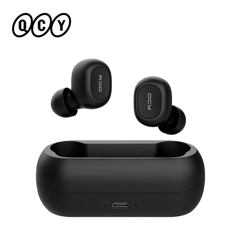 QCY QS1 T1C Mini Dual V5.0 Беспроводной наушники Bluetooth наушники 3D стерео звук наушники с двойной микрофон и зарядным устройством