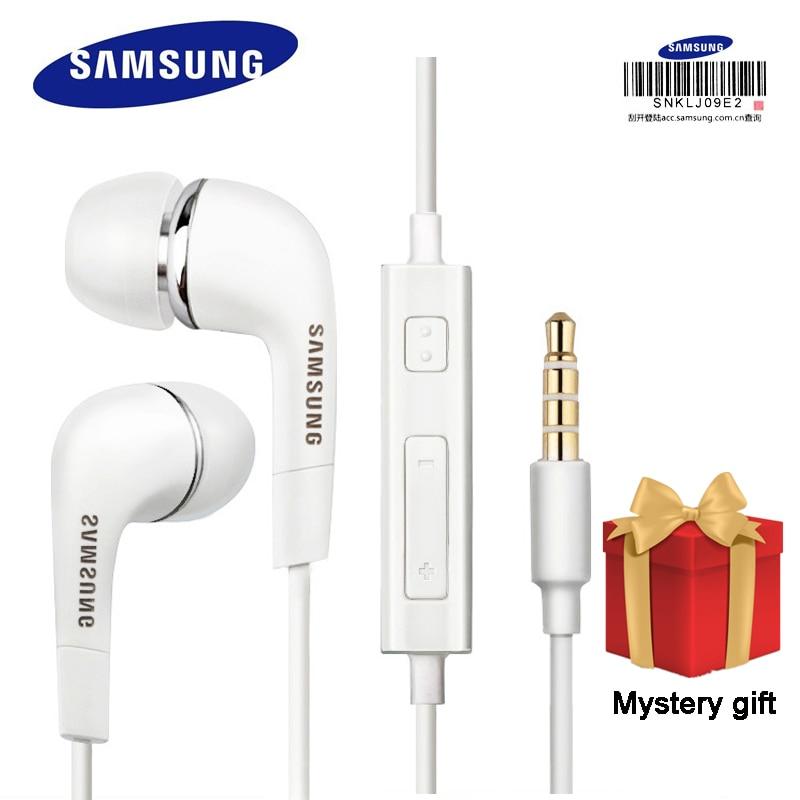 Samsung наушники EHS64 гарнитуры со встроенным микрофоном, 3,5 мм наушники-вкладыши с ушным вкладышем для смартфонов с бесплатным подарком