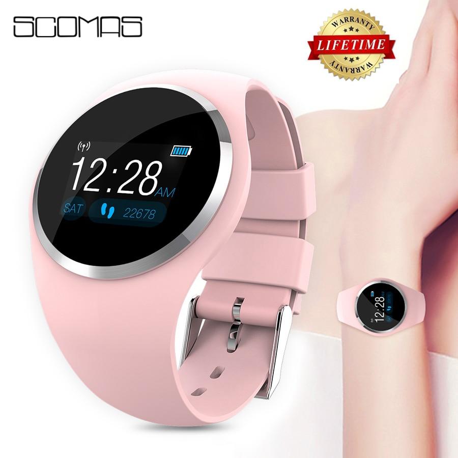 SCOMAS 2019 обновления модные часы Smart Watch HR кровяное Давление монитор Для женщин физиологическое напоминание Smartwatch для IOS и Android