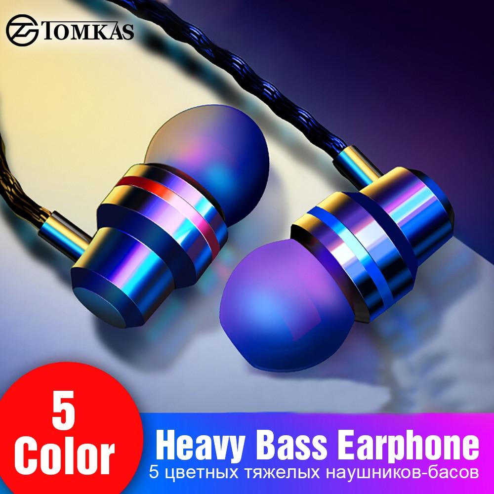 TOMKAS проводные наушники 3,5 мм в ухо наушник с микрофоном стерео гарнитура 5 цветов для samsung Xiaomi телефон компьютер