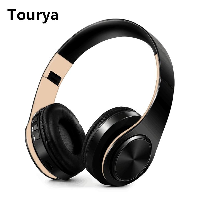 Tourya B7 Беспроводной наушники Bluetooth гарнитура складные наушники регулируемые наушники С микрофоном для мобильного телефона/планшета с Mp3