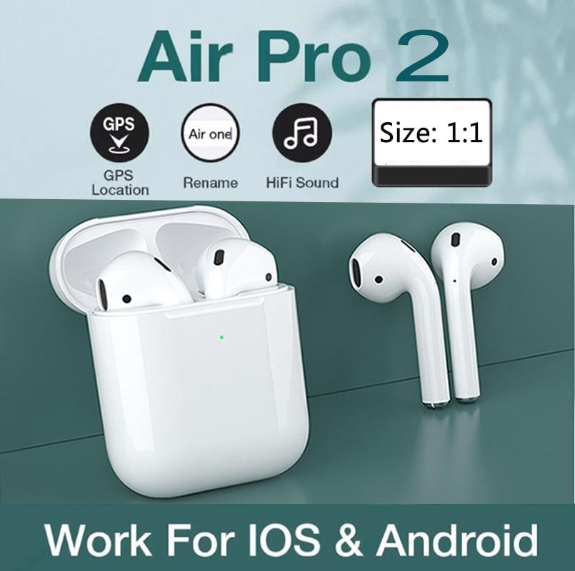Беспроводные Bluetooth наушники с сенсорным управлением для airpods 2, спортивные наушники вкладыши для Huawei, Iphone, Xiaomi, TWS, музыкальная гарнитура Наушники и гарнитуры    АлиЭкспресс