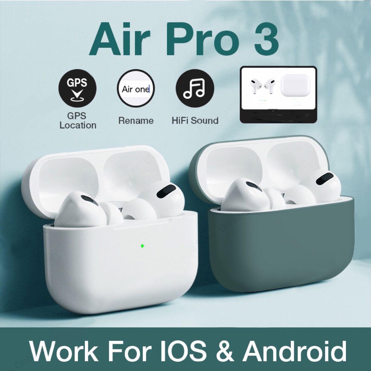 Беспроводные Bluetooth наушники с сенсорным управлением для airpods pro 3, спортивные наушники вкладыши для Iphone, Xiaomi, TWS, музыкальная гарнитура Наушники и гарнитуры    АлиЭкспресс