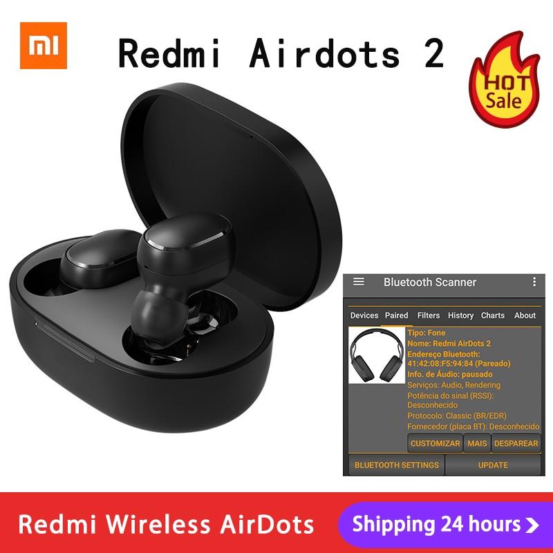 Xiaomi Redmi AirDots 2 Наушники вкладыши TWS Bluetooth 5,0 шумоподавление с микрофоном AI управления Redmi AirDots S беспроводная гарнитура|Наушники и гарнитуры| | АлиЭкспресс